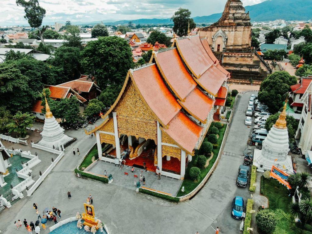 Templos del centro histórico de Chiang Mai.